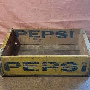 Antique Pepsi-Cola General Bottlers, Inc. Wooden S